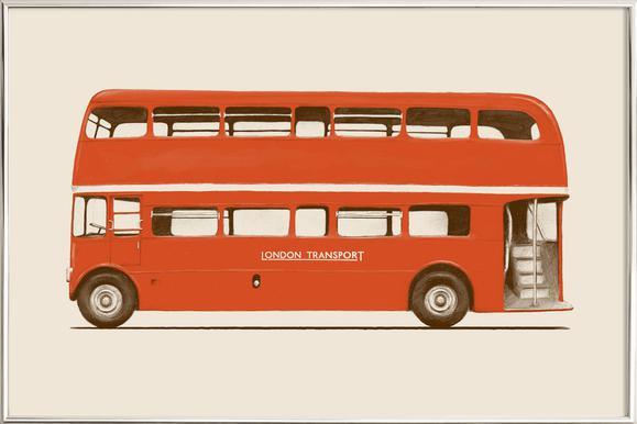 Red London Bus as Poster in Standard Frame by Florent Bodart | JUNIQE UK