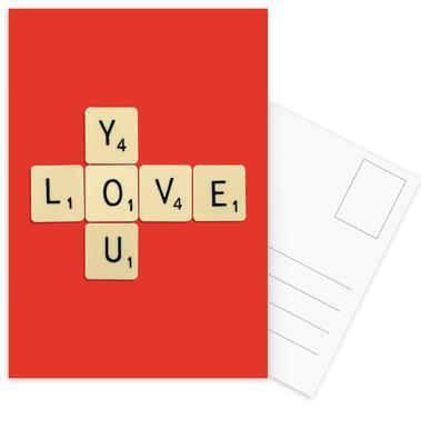 I Love You -Postkartenset