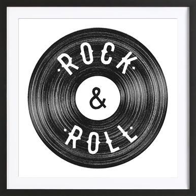 Rock & Roll affiche encadrée