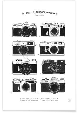 Appareils Photographiques no border Poster