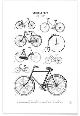 Bicyclettes -Poster