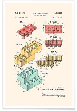 Lego PRINT Colors Affiche