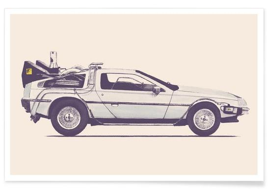 Delorean - Back to the Future Affiche