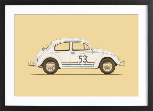 Famous Car as Poster in Standard Frame by Florent Bodart | JUNIQE