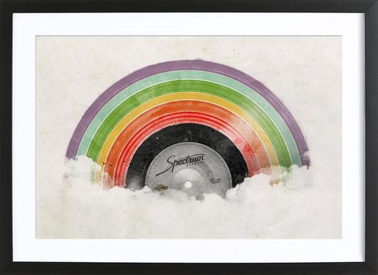 Rainbow classics florent bodart poster in wooden frame
