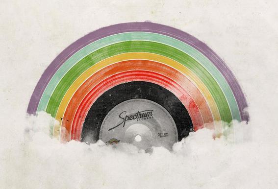 Rainbow Classics acrylglas print