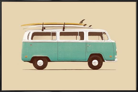 Blue Van Affiche sous cadre standard