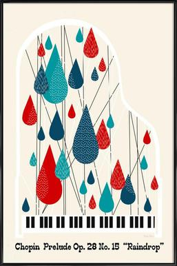 Chopin - Raindrop Prelude by Prelude Posters ingelijste poster