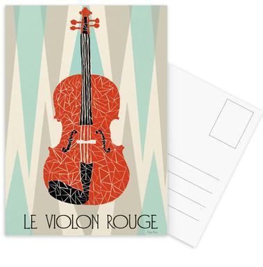 Violon Rouge cartes postales