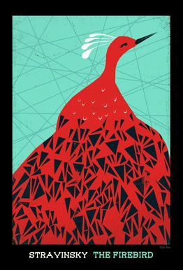 Stravinsky firebird as premium poster by prelude posters juniqe acrylic glass printfrom 2499 m4hsunfo