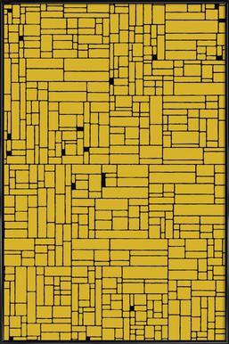 computer graphic yellow black as aluminium print juniqe