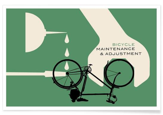 Bicycle Maintenance and Adjustment Poster