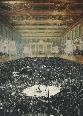 boxing in vienna Canvas print