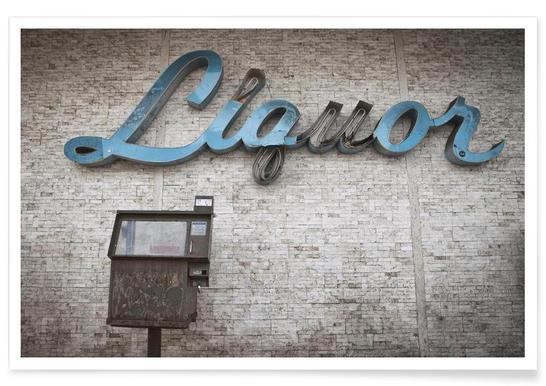 Liquor Sign Poster
