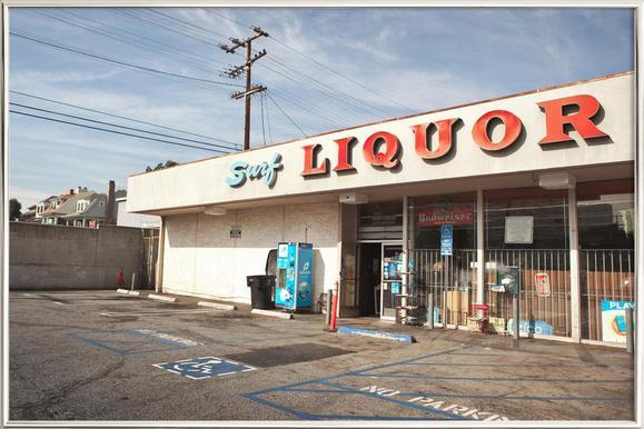 Liquor Store Santa Monica as Poster in Standard Frame | JUNIQE