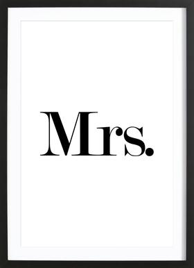 Mrs. Poster im Holzrahmen