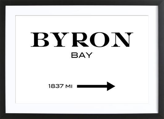 Byron Bay -Bild mit Holzrahmen