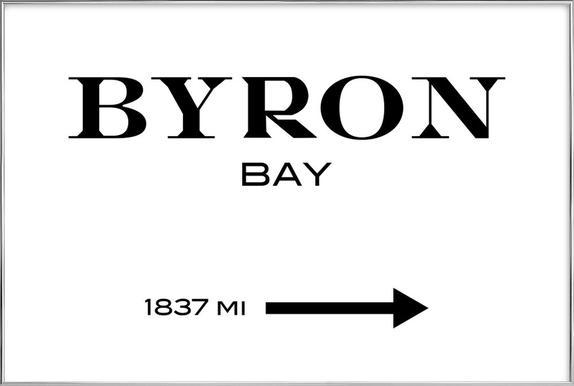 Byron Bay Poster in Aluminium Frame