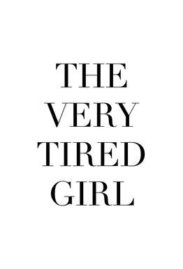 Tired Girl -Acrylglasbild