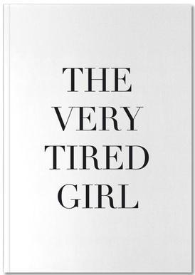 Tired Girl Notizbuch