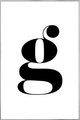 G Letter -Poster im Alurahmen