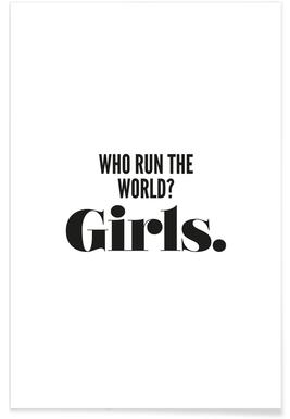 Run Girls Poster