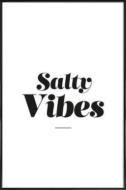 Salty Vibes -Bild mit Kunststoffrahmen