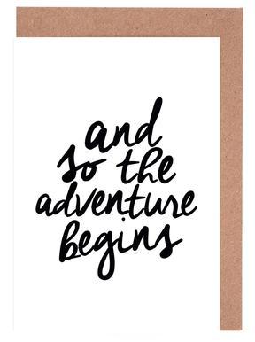 Adventure Begins Set de cartes de vœux