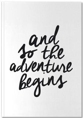 Adventure Begins Notizbuch