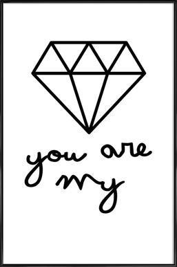 Diamond Affiche sous cadre standard