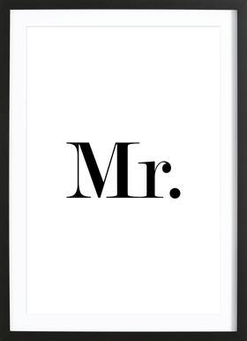 Mr. Poster im Holzrahmen