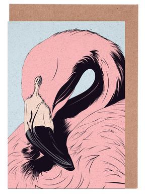 Flamingo Greeting Card Set