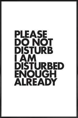 Do Not Disturb Framed Poster