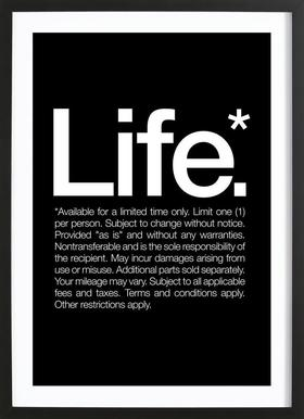 Life* (White) Poster in Wooden Frame