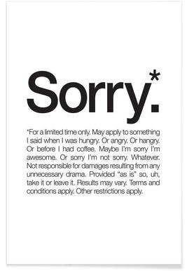 Sorry* (Black) Poster