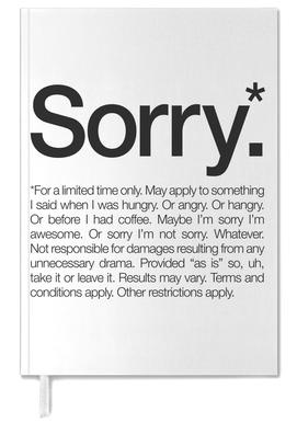 Sorry* (Black) -Terminplaner