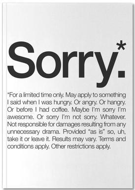 Sorry* (Black) Notitieboekje