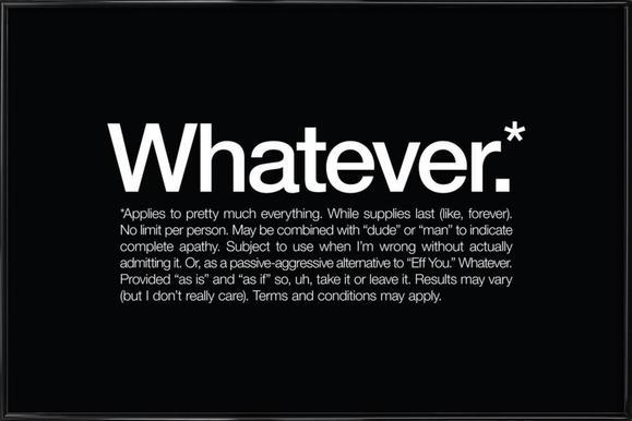 Whatever* Framed Poster
