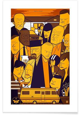 I'm the one who knocks - yellow version Affiche