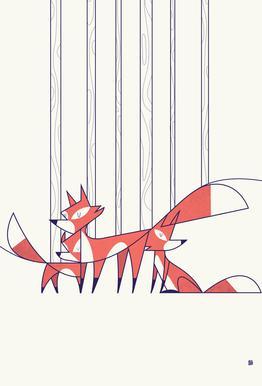 Foxes Acrylglasbild