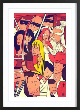 Hattori Hanzo ingelijste print