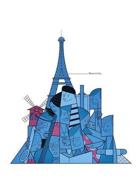 Paris canvas doek