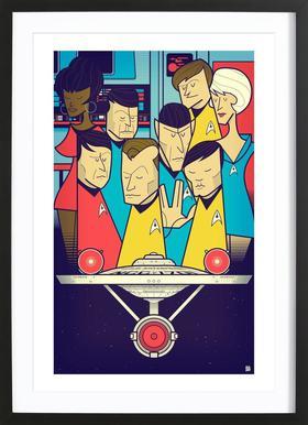 Enterprise ingelijste print