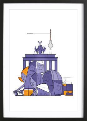 Berlin ingelijste print