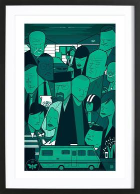 I'm the one who knocks - green version ingelijste print