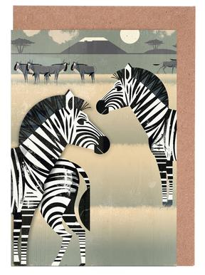 Zebra Greeting Card Set