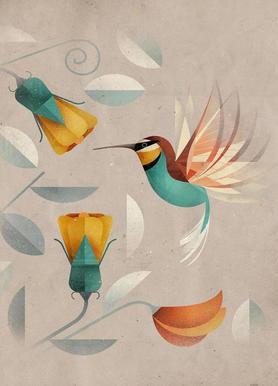 Kolibri canvas doek
