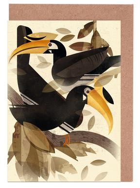 Hornbill cartes de vœux