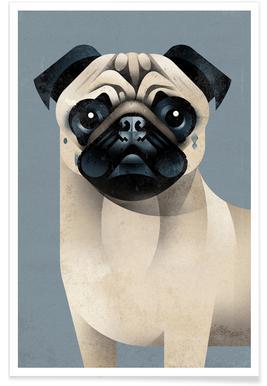 Vintage Pug Poster