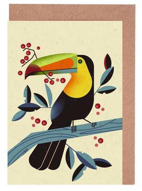 Toucan II -Grußkarten-Set